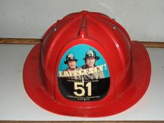 Fireman Toy Hat Emergecy 51 Vintage