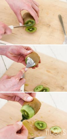 How to peel a kiwi w