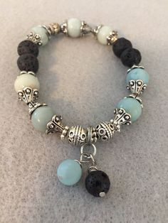 Excited to share the latest addition to my shop: Diffuser Bracelet Blue and Silver Plated Accents