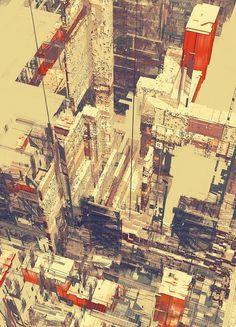 強烈風格的城市建築插畫 – Atelier Olschinsky | KAIAK.TW | 城市美學的新態度