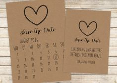 Save the Date | Postkarte | Kalenderblatt