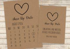 Save the Date | Postkarte | Kalenderblatt