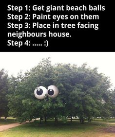 Ha ha ha...why can't I have neighbors like this...... Maybe I need to BE that neighbor. LOL