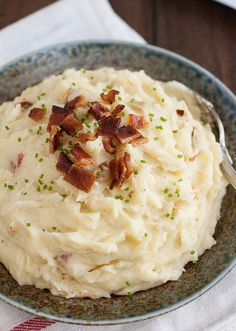 Brown Butter and Bacon Mashed Potatoes by Tracey's Culinary Adventures