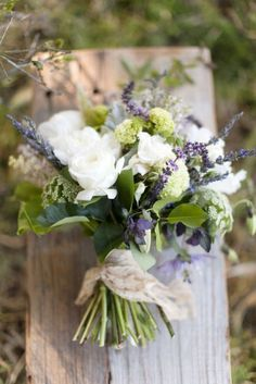 Rustic chic. THINGS I WANT IN MY BOUQUET: Hydrangeas Lavender Peonies A Rosemary Spring Roses?