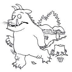 gruffelo 1   grüffelo, ausmalbilder kinder und malvorlagen für kinder