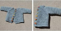 This super cute knitted vanilla baby cardigan will definitely make your little one look even more charming! The stylish design makes this cardi an ideal . Baby Knitting Free, Knitting For Kids, Crochet For Kids, Knitting Patterns Free, Knitting Ideas, Knitted Baby Cardigan, Knitting For Beginners, Free Baby Stuff, Baby Patterns