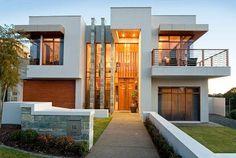 Casa unifamiliar con fachada de piedra