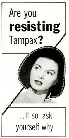 tampax ad - give in to resistance