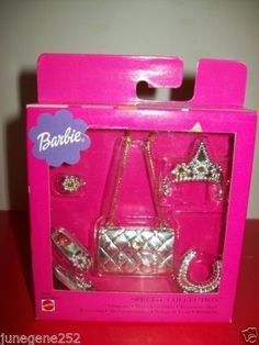 1999 Brand New Barbie Special Silver Collection w Crown Purse Shoes Jewelry 47 | eBay