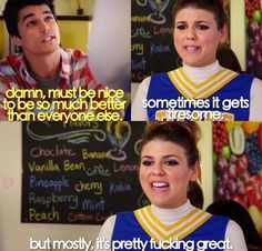 Sadie Saxton Awkward. Season 4. She is the only reason I continue to watch this show