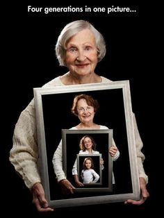 4 generaciones en una sola imagen #ideas #familia #retratos