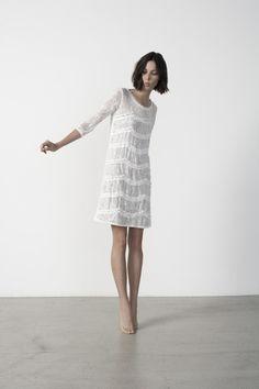 Paisley Lace Ruffle Dress, Graham & Spencer Spring 2013