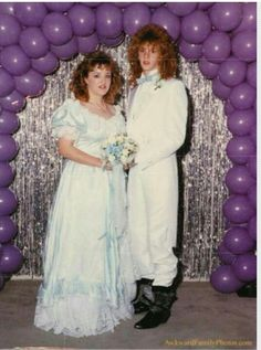 80's prom Been hanging out together too long!!!