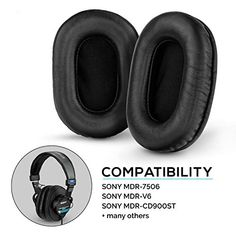 Brainwavz Sheepskin Leather Earpads for Sony MDR 7506 - V6 - CD900ST with Memory Foam Ear Pad & Suitable for Other On... Sony, Memory Foam, Foot Pads, Leather