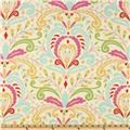 Designed by Dena Designs for Free Spirit, this cotton print fabric is perfect for quilts, home décor accents, craft projects and apparel. Colors include red, light pink, lime, beige, aqua and fuchsia.