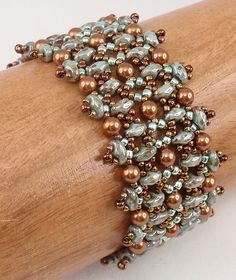 Beading Tutorial for Duo Delight Bracelet jewelry pattern Beaded Bracelets Tutorial, Beaded Bracelet Patterns, Seed Bead Bracelets, Seed Bead Jewelry, Jewelry Patterns, Beaded Jewelry, Jewelry Bracelets, Bead Patterns, Jewellery