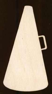 Cheerleader Megaphone Shape SIGN 12 inches Plaque Natural Craft Wood 1252-12 on Etsy, $8.99