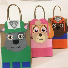 Paw patrol bags, paw patrol goodie bags, paw patrol treat bags, paw patrol candy bags, paw patrol bolsitas
