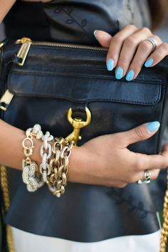 with the sky blue nails...FOR THE LOVE OF PRETTY