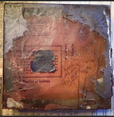 Weathered encaustic collages by Amy Willcut