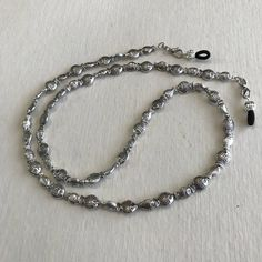 Silver Plated Fish Beaded Eyeglass Chain-Sunglass Chain-Eyeglass Holder-Eyeglass Cord-Chain for Glasses-Necklace by HeavenlyChains on Etsy