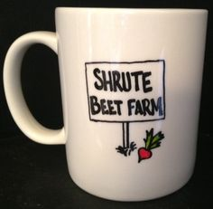 SHRUTE BEET FARM Mug Inspired by Dwight from by TheMugglyDuckling, $10.00