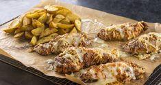 Κοτόπουλο πανέ στον φούρνο με πατάτες