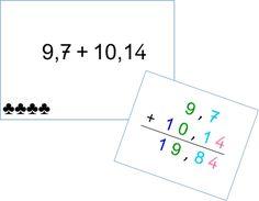 En classe avec Montessori: Calculs : l'addition de nombres décimaux