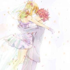 Lucy Heartfilia and Natsu Dragneel #fairy tail