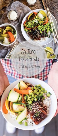 Ahi Poke Bowls with Sesame Ginger Vinaigrette are a nutritious and delicious way…