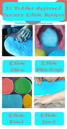10 Toddler-Approved Sensory Play Edible Recipes