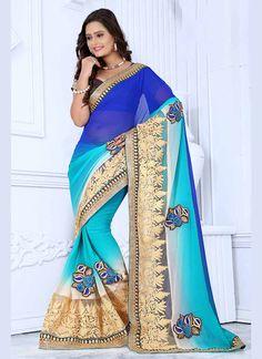 Multi Color #Wholesale #Georgette #Indian Sarees @ http://www.suratwholesaleshop.com/sarees?view=catalog  #wholesale #Wholesaler #WholesaleSarees #Sarees #Sareessupplier #Exporter #Suratdealer