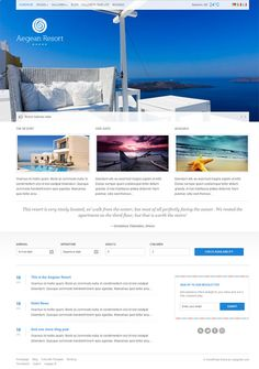 Aegean Resort WordPress Theme At CSSIgniter