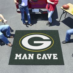 Green Bay Packers Man Cave Tailgater Rug