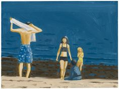 blastedheath: Alex Katz (American, b. 1927), Four people with...