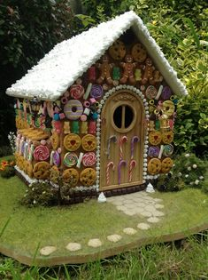 Hansel and Gretel themed miniature witch house