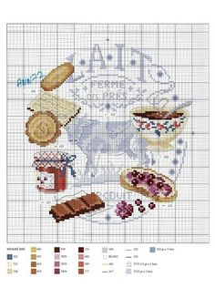 I have the whole book with those patterns and I adore it!I want to cross stitch this one for my kitchen some day!!