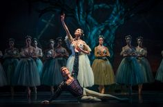 Luis Ortigoza as Albrecht with Natalia Berríos as Giselle in Act 2 of Ballet de Santiago's Giselle. Photo by Patricio Melo