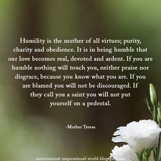 mother teresa's humility list - Google Search