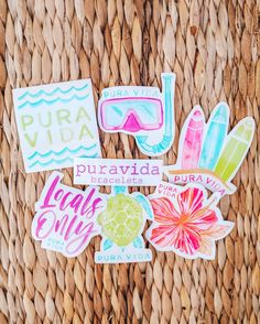 Did you know ⁉️ Every Pura Vida order comes with a FREE Sticker Pack! Which sticker is your favorite? 👇✨ Enjoy OFF your next Pura Vida purchase by using code: at checkout! Tumblr Stickers, Free Stickers, Printable Stickers, Laptop Stickers, Trendy Wallpaper, New Wallpaper, Marble Iphone Wallpaper, New Sticker, Sticker Shop