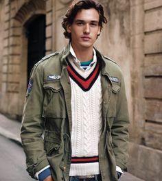 Preppy Boys, Preppy Style, My Style, Ladies Club, Preppy Mens Fashion, Military Jacket, Polo Ralph Lauren, Bomber Jacket, Menswear