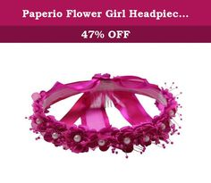 Paperio Flower Girl Headpiece for Easter, Wedding Hair Wreath (One Size) Fuchsia. Flower Girl Headpiece for Easter, Wedding (One Size). Available in various sizes from baby, toddler, children, young adult. The diameter is approx 6-7 inches. Please review the product images for color match. For the headpiece flower, the style would change a little bit depending on the flower's manufacture. Made in United States.