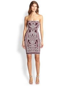 Herve Leger Printed Strapless Dress | Clothing