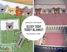 Sleep Tight Teddy Bear Blanket Pattern Crochet Pattern