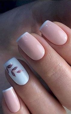 44 Stylish Manicure Ideas for 2019 Manicure: How to Do It Yourself at Home! - 44 Stylish Manicure Ideas for 2019 Manicure: How to Do It Yourself at Home! – Page 4 of 44 – Nageldesign – Nail Art – Nagellack – Nail Polish – Nailart – Nails Cute Nail Polish, Cute Acrylic Nails, Cute Nails, Pretty Gel Nails, Gel Nail Polish, Glitter Nails, Pretty Short Nails, Pretty Nail Colors, Pink Nail Polish