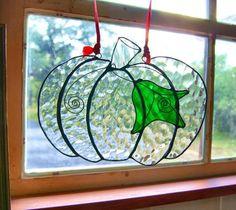 Pumpkin Suncatcher Halloween Decoration Thanksgiving Decor Halloween Suncatcher Stained Glass Black Patina