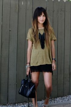 tee, necklace & skirt by maryann