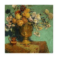 Flowers for Alice, 1928 by Grant Wood Framed Artwork, Framed Prints, Art Prints, Wall Art, Artist Grants, Grant Wood, Art Fund, Wood Flowers, American Artists
