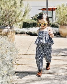 As cool as a cucumber in our Bw gingham ruffle jumpsuit. Thank you As cool as a cucumber in our Bw gingham ruffle jumpsuit. Thank you Baby Outfits, Outfits Niños, Girls Summer Outfits, Summer Girls, Summer Clothes, Outfit Summer, Fashion Outfits, Baby Girl Fashion, Toddler Fashion